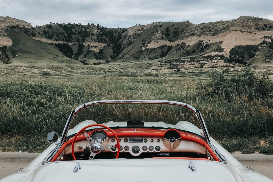 corvette in western nebraska Photo by Laura VonKampen Photography